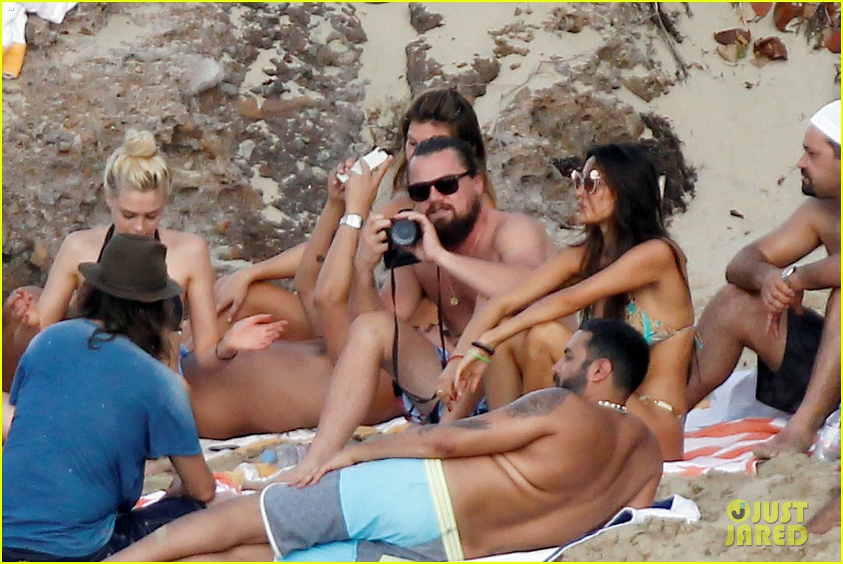 leonardo dicaprio continues st barts trip surrounded by women 243271442