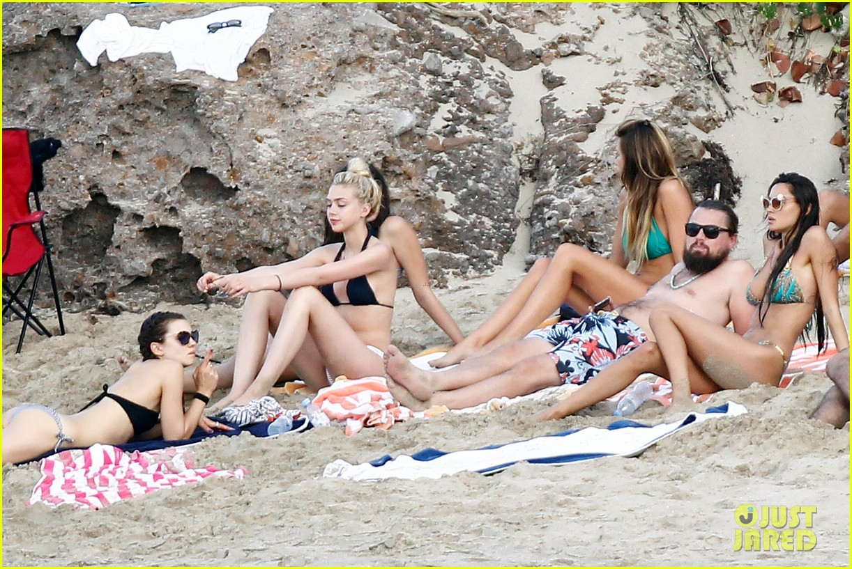 leonardo dicaprio continues st barts trip surrounded by women 273271445