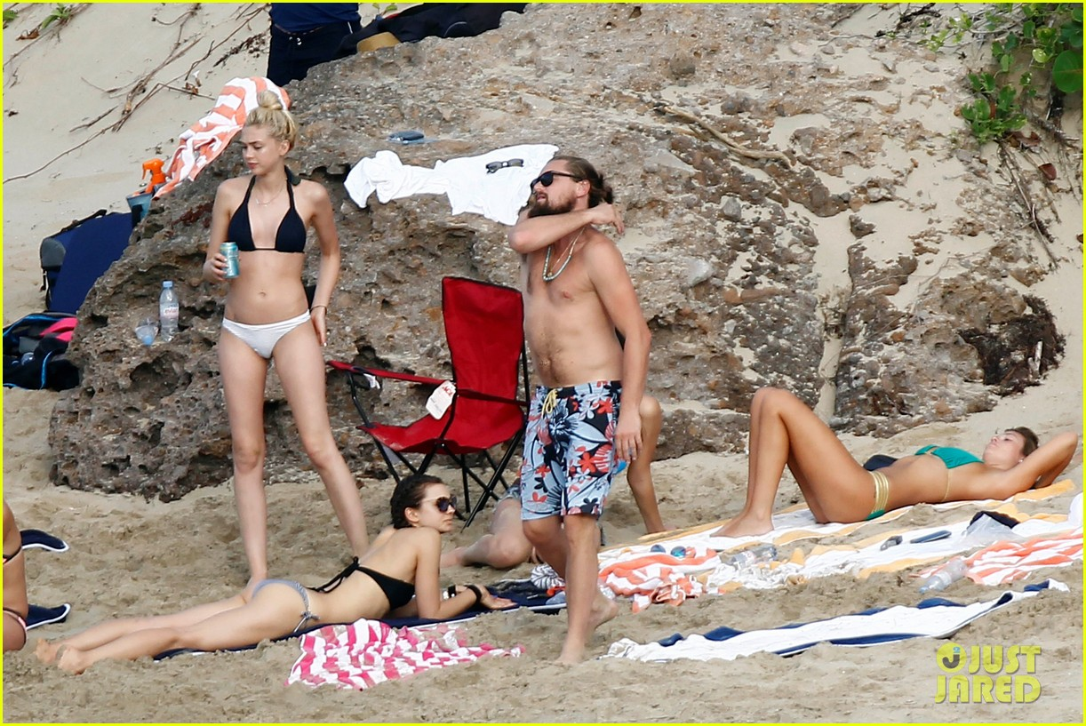 leonardo dicaprio continues st barts trip surrounded by women 313271449
