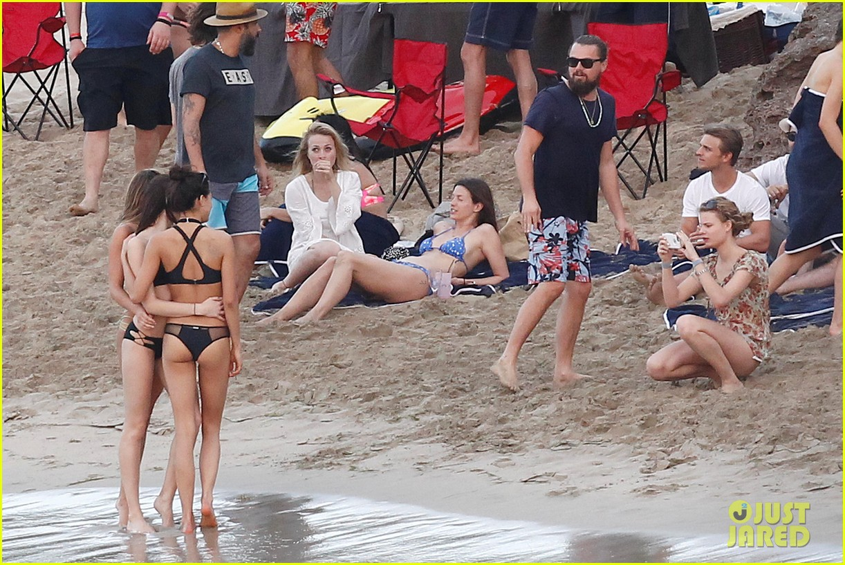 leonardo dicaprio continues st barts trip surrounded by women 613271479