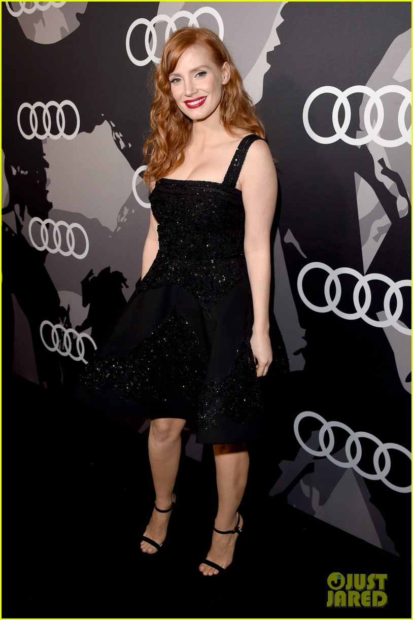 jessica chastain audi golden globes 2015 party 123275548