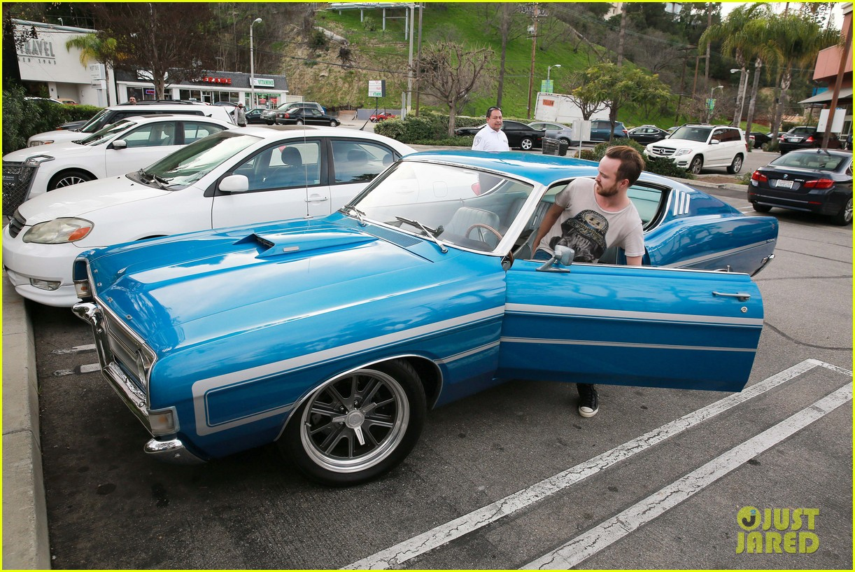Aaron Paul Shows Off His Retro Looking Car While Shopping Photo 1969 Ford Torino Co