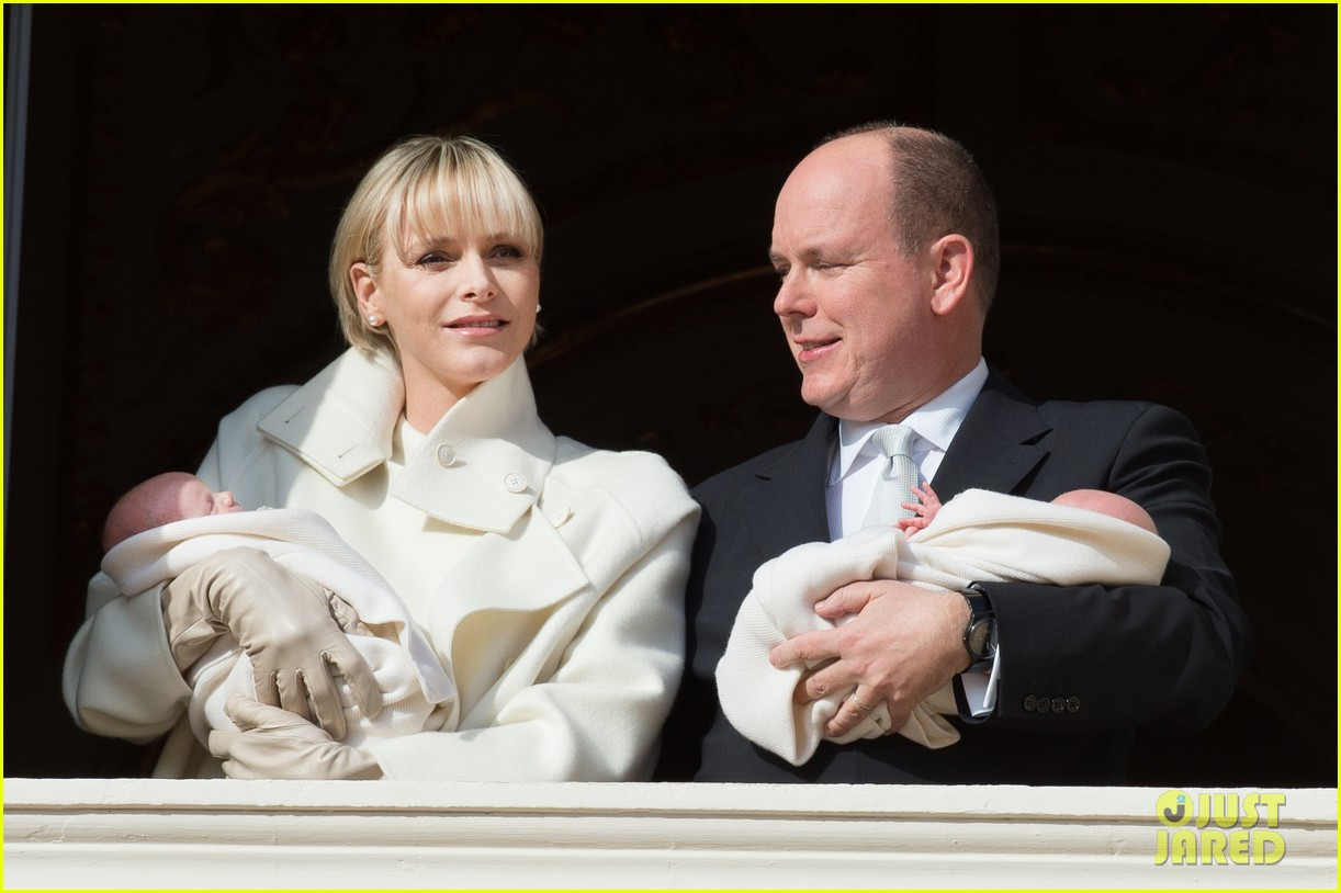 princess charlene prince albert debut their twins 033274333