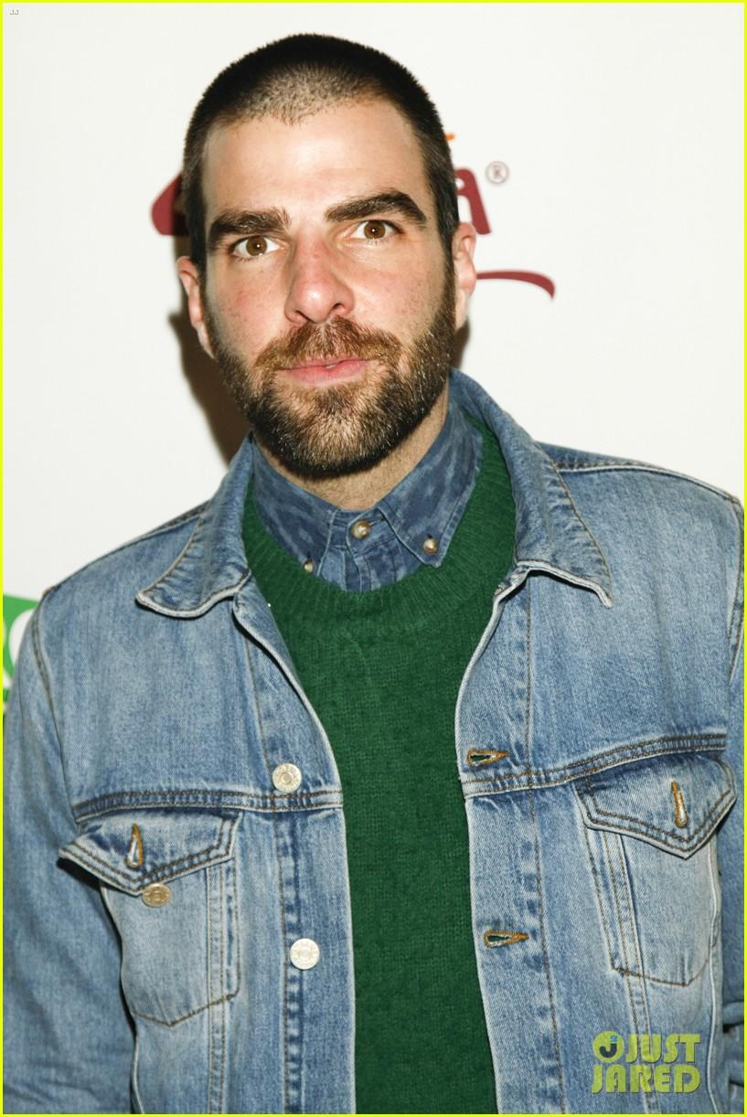 zachary quinto joins andrew lincoln walking dead co stars at sundance 053288849