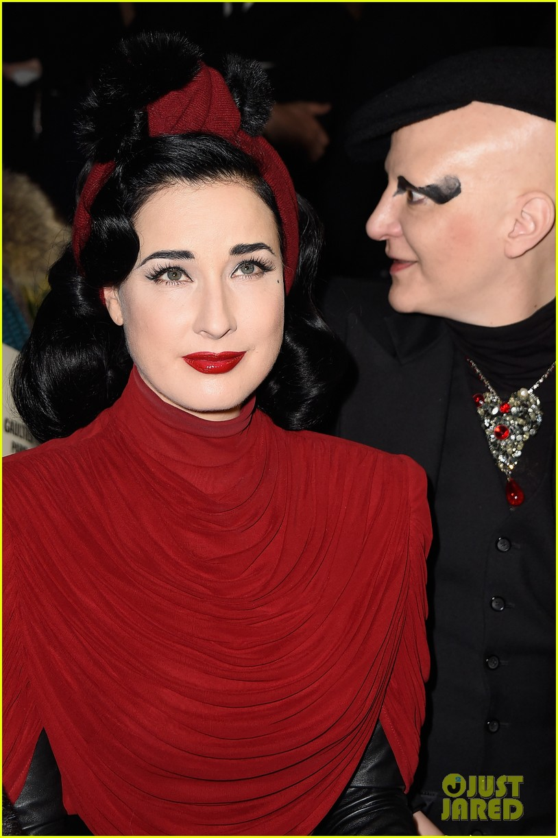 Dita Von Teese Glams Up Paris Fashion Week at Elie Saab ...