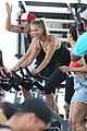 nina agdal gets miami excited for a spin class after supporting christy turlington 23