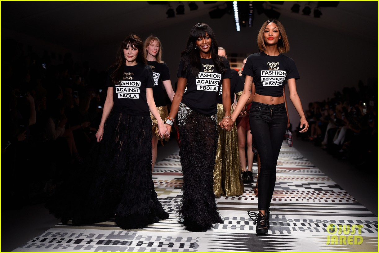 naomi campbell jourdan dunn more hit the runway at fashion for relief 123308729