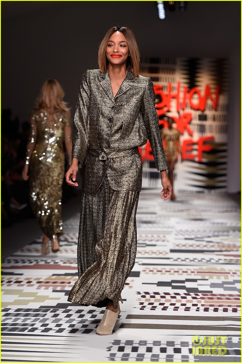 naomi campbell jourdan dunn more hit the runway at fashion for relief 173308734