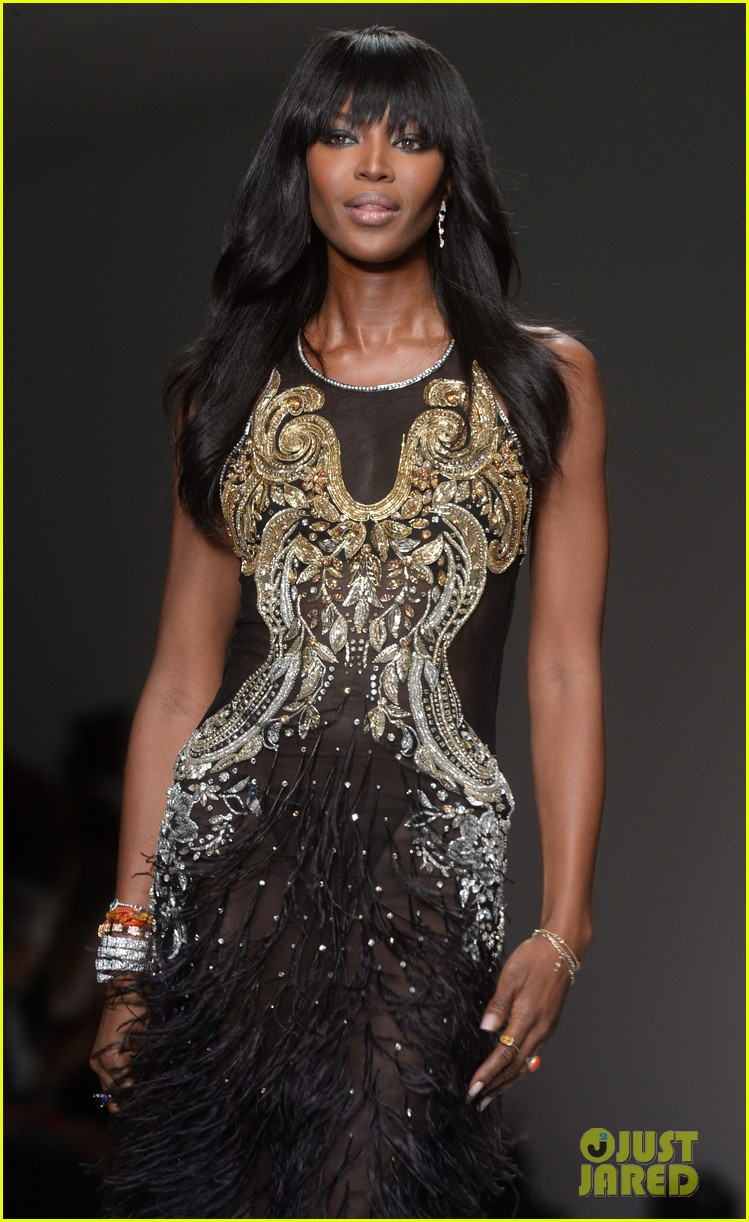 naomi campbell jourdan dunn more hit the runway at fashion for relief 323308749