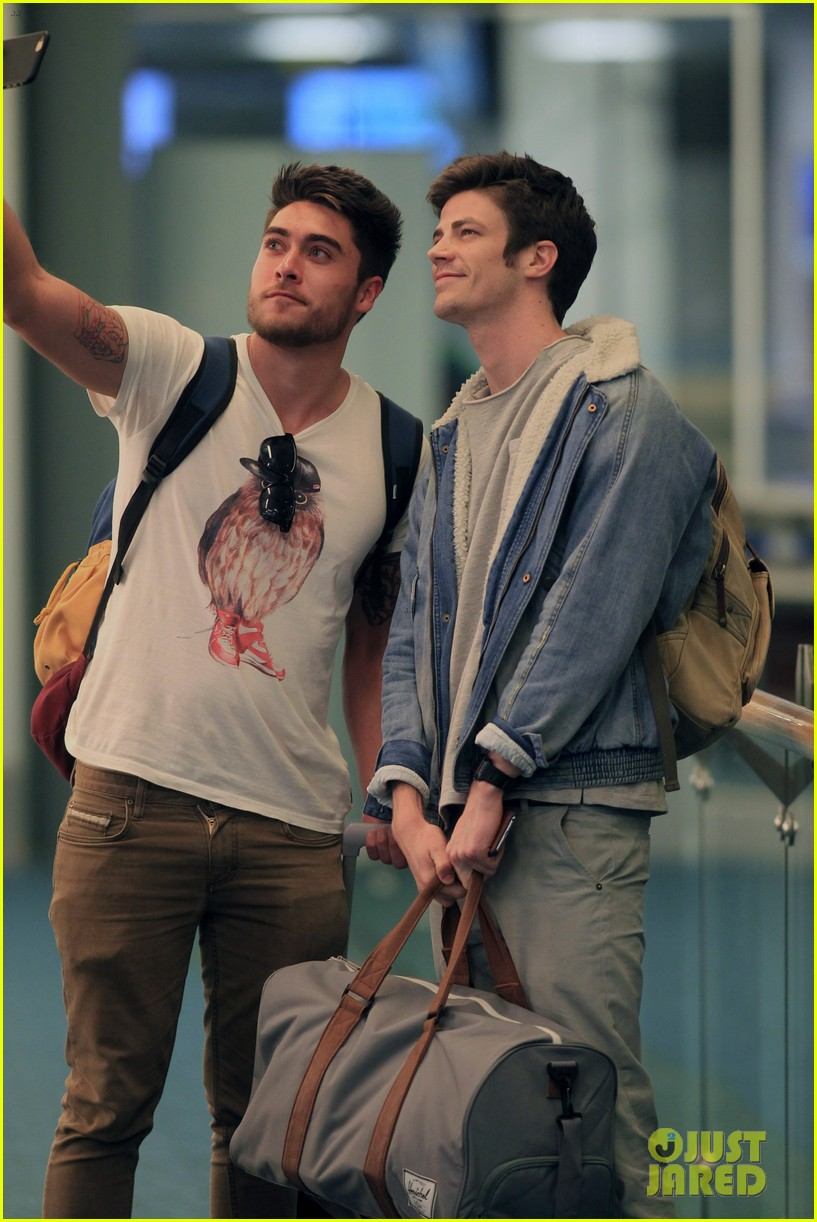Grant gustin colton haynes danielle panabaker are flash pack grant gustin colton haynes danielle panabaker are flash pack at vancouver airport photo 3301350 colton haynes danielle panabaker emily kinney m4hsunfo Image collections