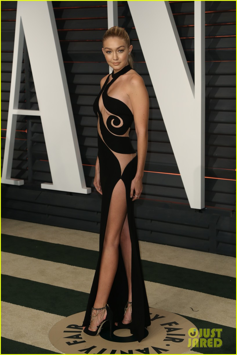 Gigi Hadid Shows Tons Of Skin For Her Second Oscars Dress