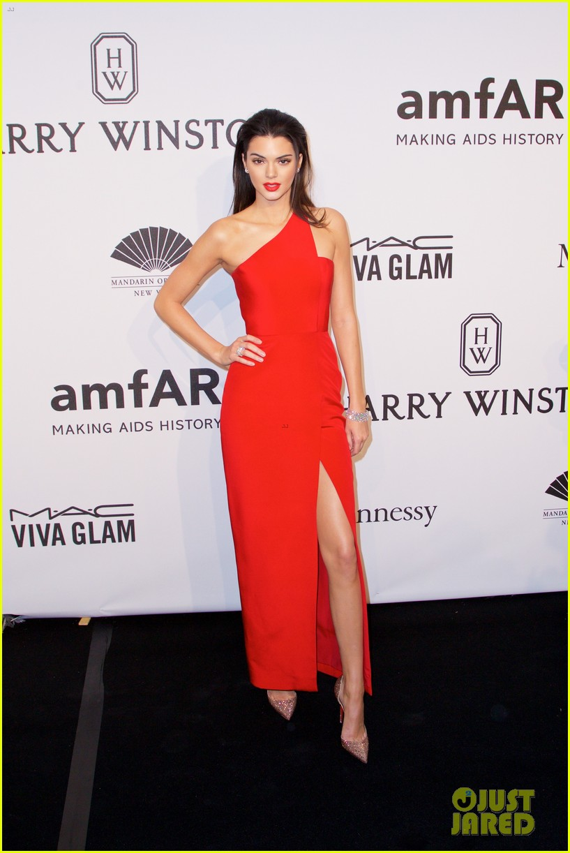kendall jenner karlie kloss show lots of leg at amfar gala 193303366
