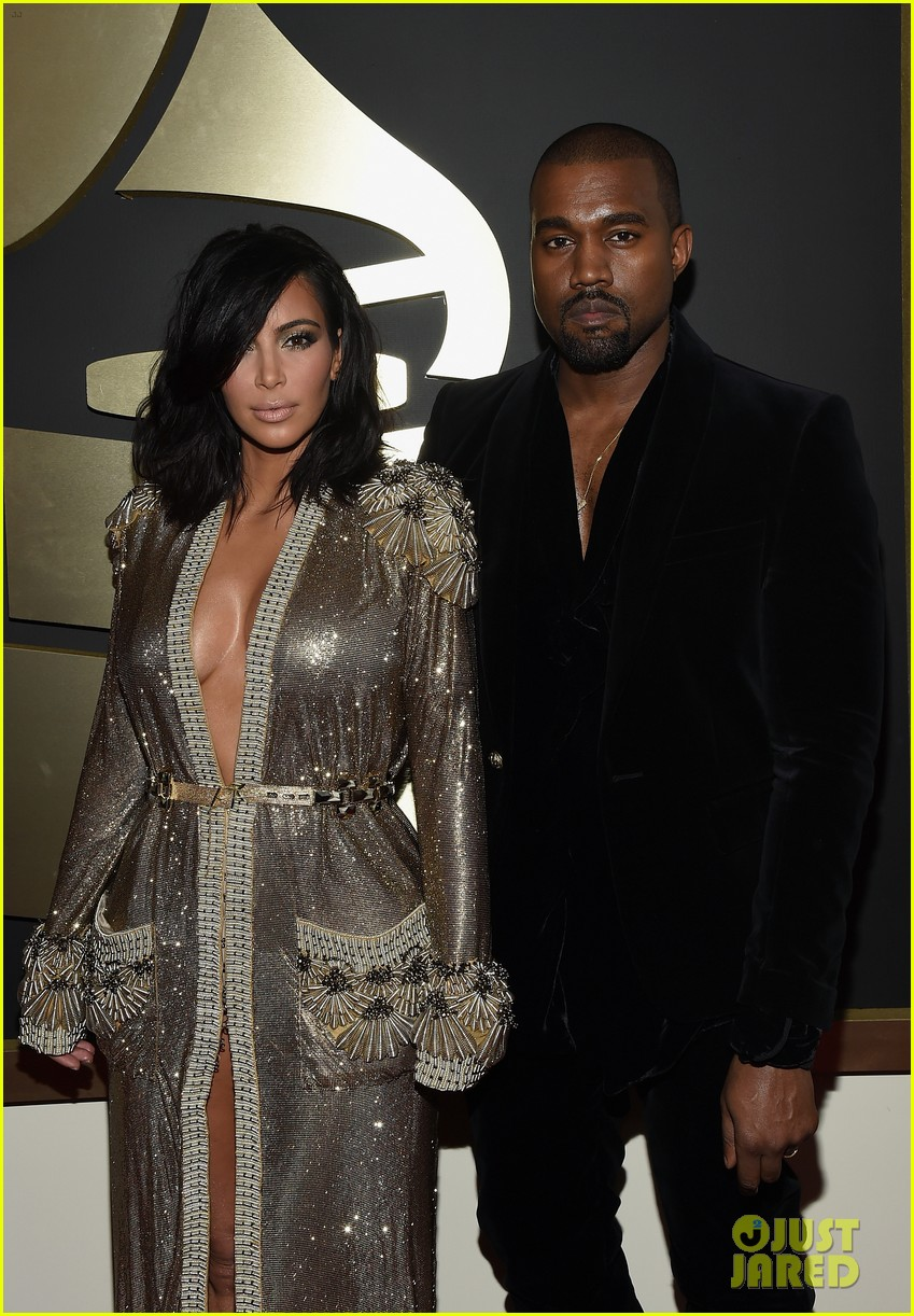 kim kardashian kanye west grammys 2015 193299424