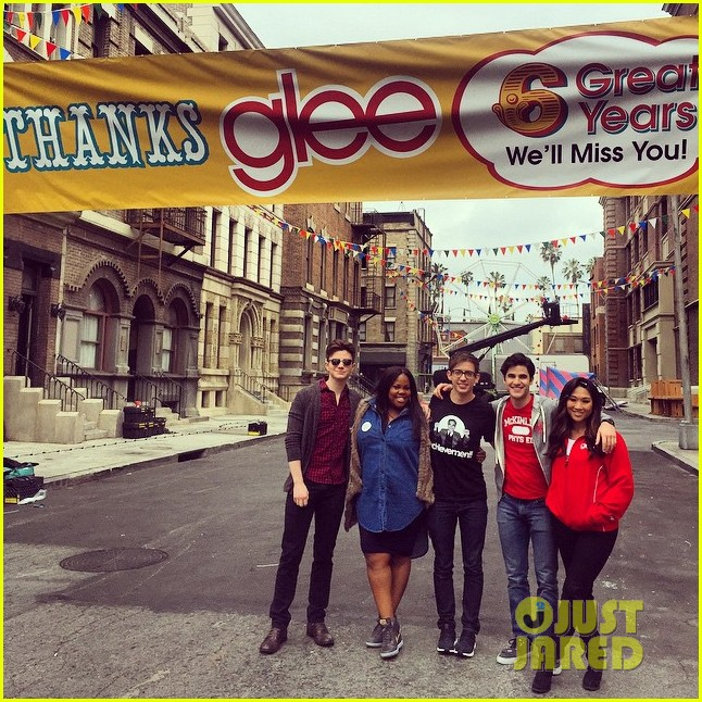 lea michele darren criss more goodbye glee last day 043309822
