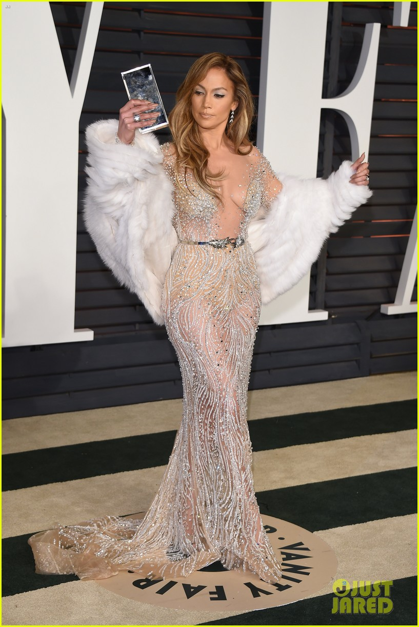 Jennifer Lopez Stuns In Sheer Dress At Oscars After Party
