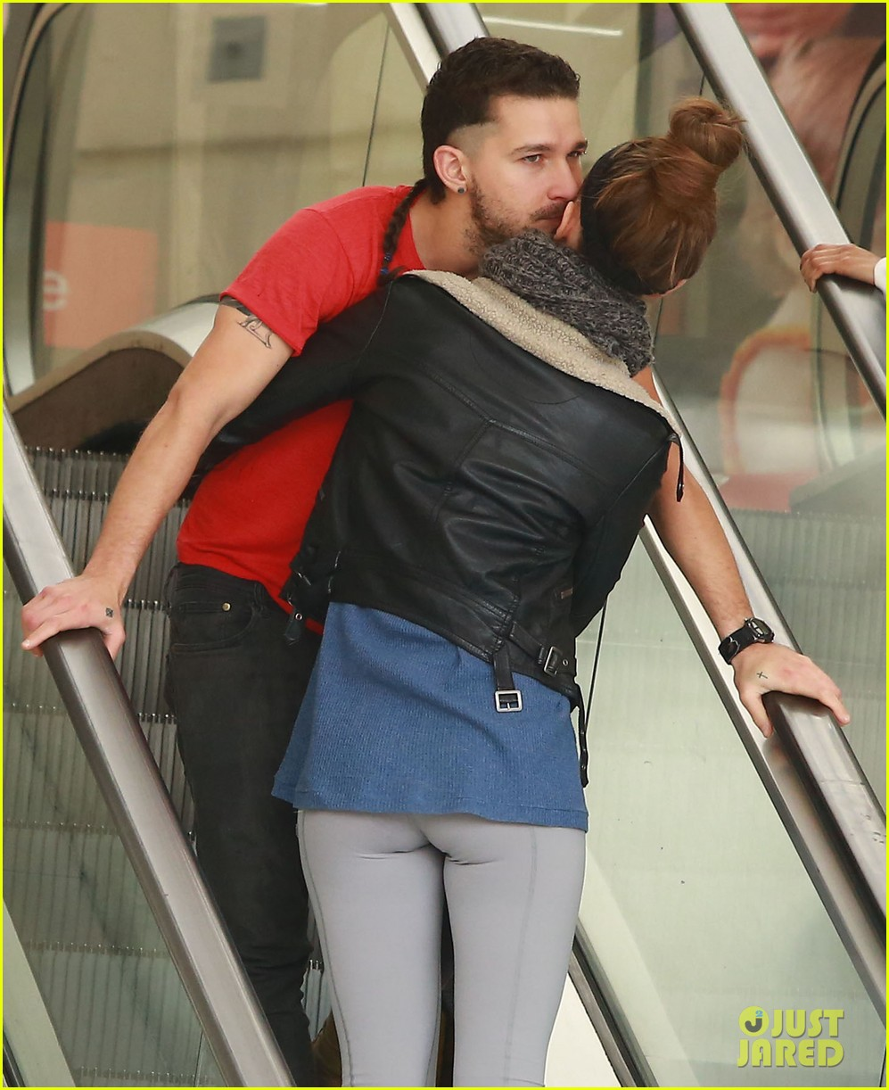 shia labeouf mia goth pda on escalator 053316209