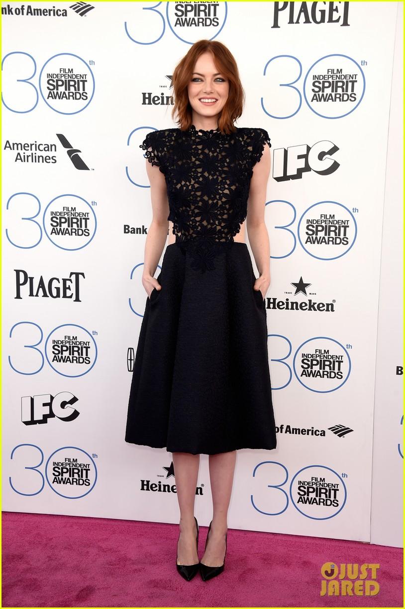 Emma Stone\'s Black Dress is Perfect For Spirit Awards 2015: Photo ...