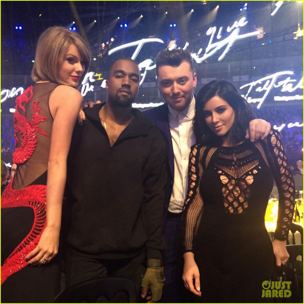 taylor swift kanye west hang out again brits 013314347