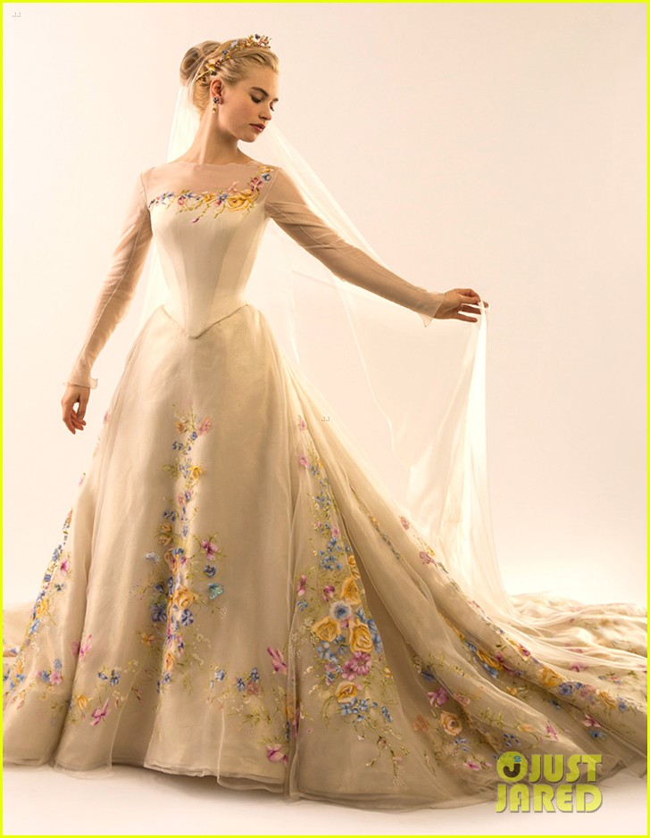 See Lily James In Cinderella\'s Wedding Dress Now!: Photo 3302444 ...