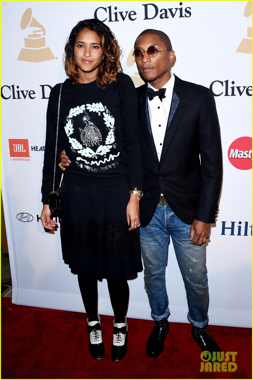 Pharrell Williams & Wife Helen Lasichanh Party with Clive ...