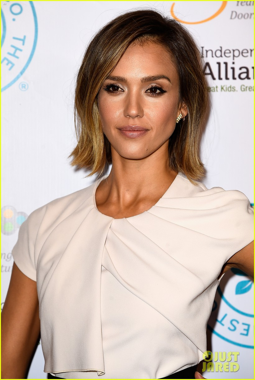jessica alba john legend stacey keibler step out for good cause at impact 013328484