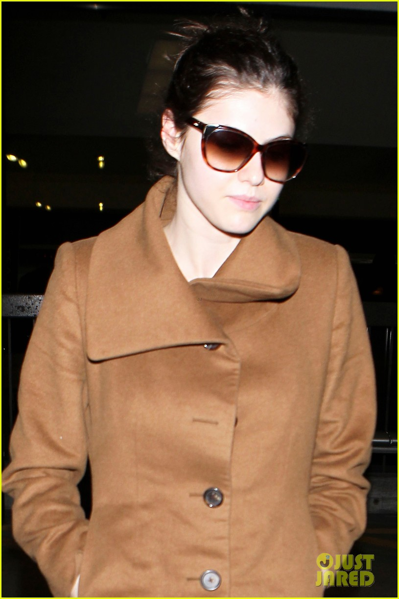 alexandra daddario logan lerman land at lax together 043329590