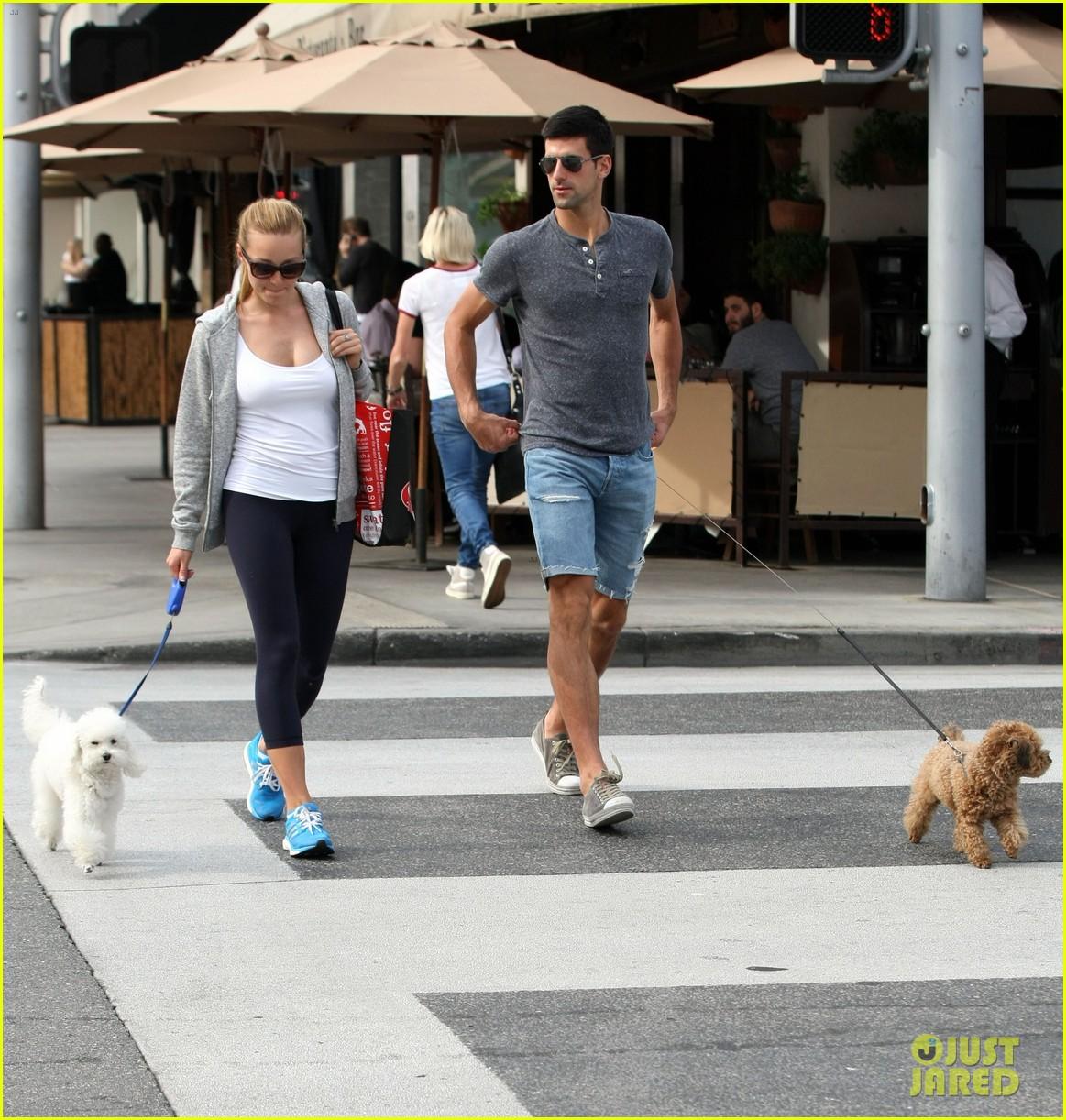 novak djokovic goes for romantic dog walk with wife jelena 033323012