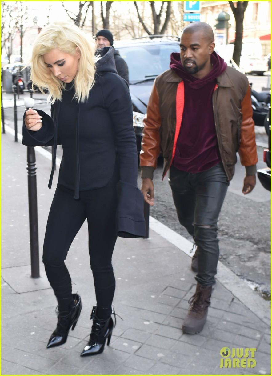 kim kardashian amp kanye west cuddle in the paris streets