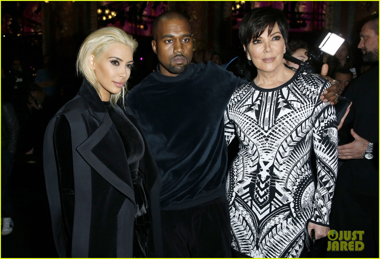 kim kardashian hits up balmain show after dying hair 163318859