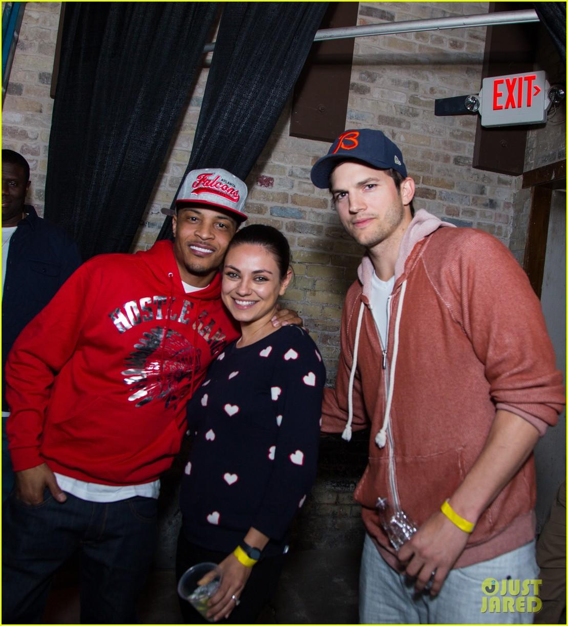 mila kunis supports ashton kutcher at his sxsw event 013327008