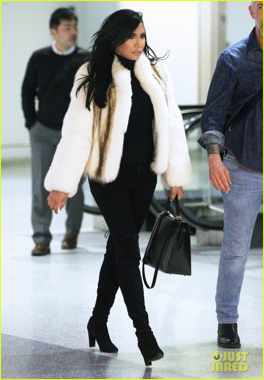 naya rivera arrives in newark airport 063322240