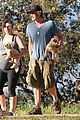 milla jovovich hike with paul ws anderson pregnant 13