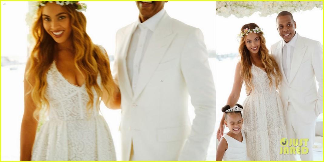 beyonce jay z blue ivy make funny faces at tina knowles wedding 033355122