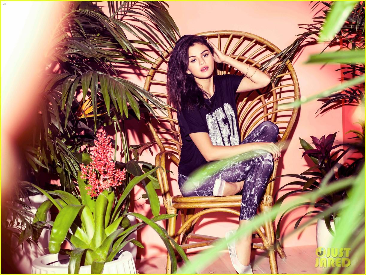 selena gomez bares midriff adidas neo campaign 103348758