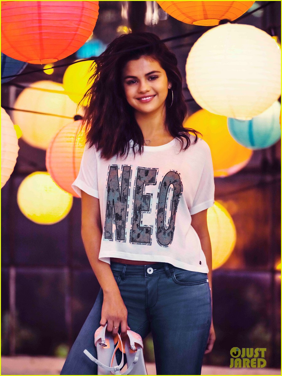 selena gomez bares midriff adidas neo campaign 113348759