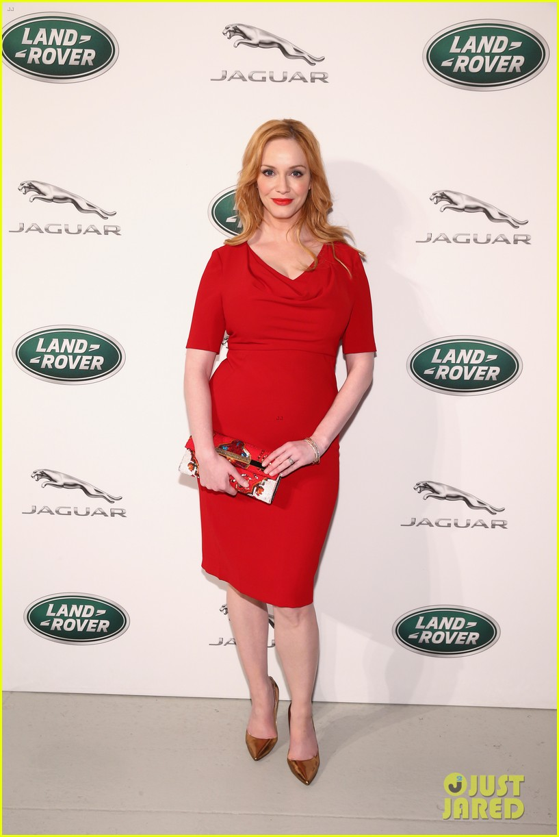 christina hendricks is red hot for jaguar land rover vip reception 033338244