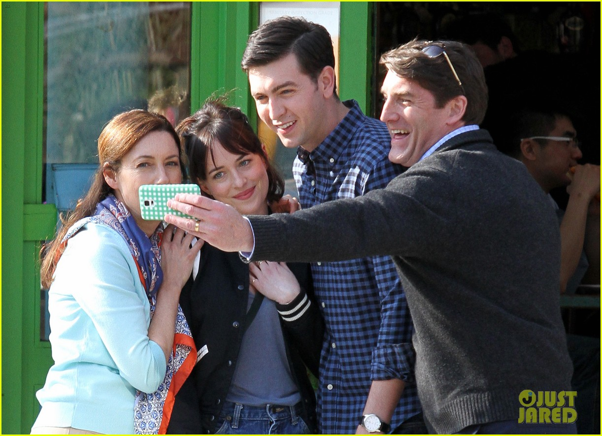 dakota johnson cuddles up to nicholas braun 043354212