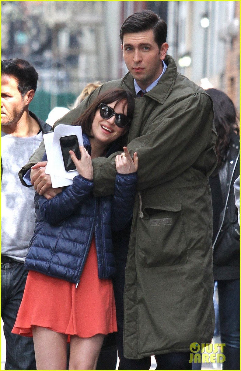 dakota johnson cuddles up to nicholas braun 193354227