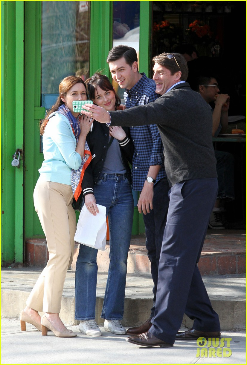 dakota johnson cuddles up to nicholas braun 333354241