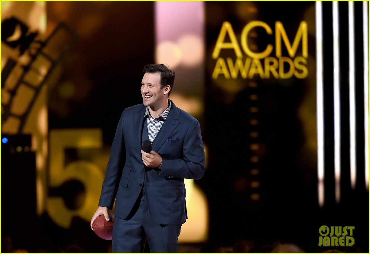 Tony Romo during the ACM awards