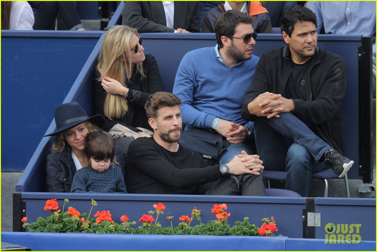 shakira gerard pique bring milan to watch tennis 133356170