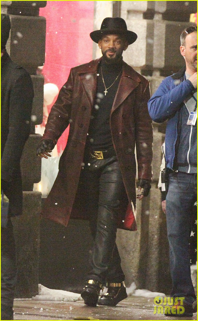 will smith spotted in costume on suicide squad set 013358470