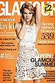 taylor swift flashes belly button glamour uk cover 01