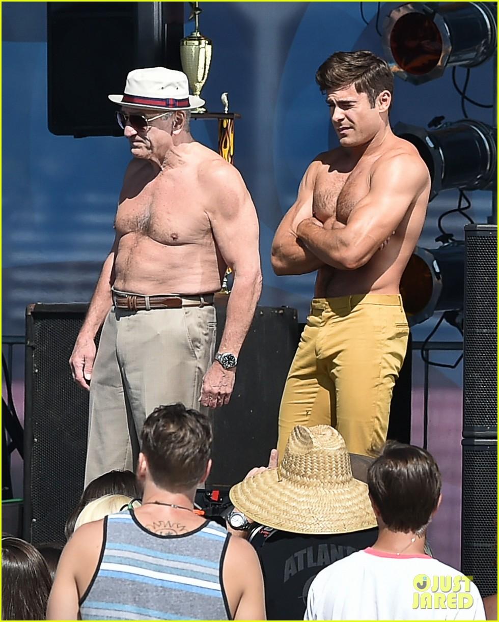 Zac Efron and Robert De Niro both go topless for Dirty