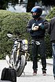 orlando bloom promotes custom bmw motorcycle in italy 05
