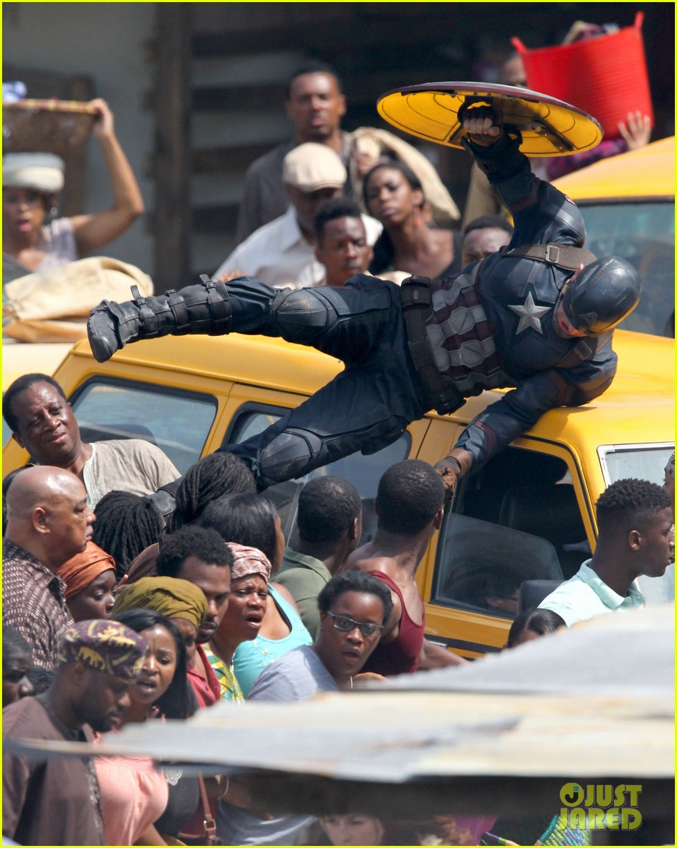 chris evans anthony mackie get to action captain america civil war 073370435