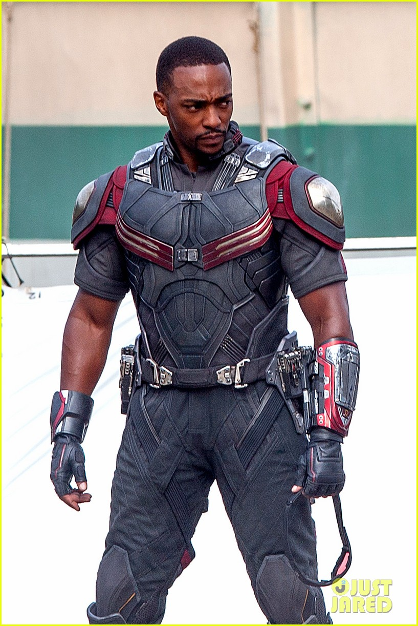 chris evans anthony mackie get to action captain america civil war 123370440