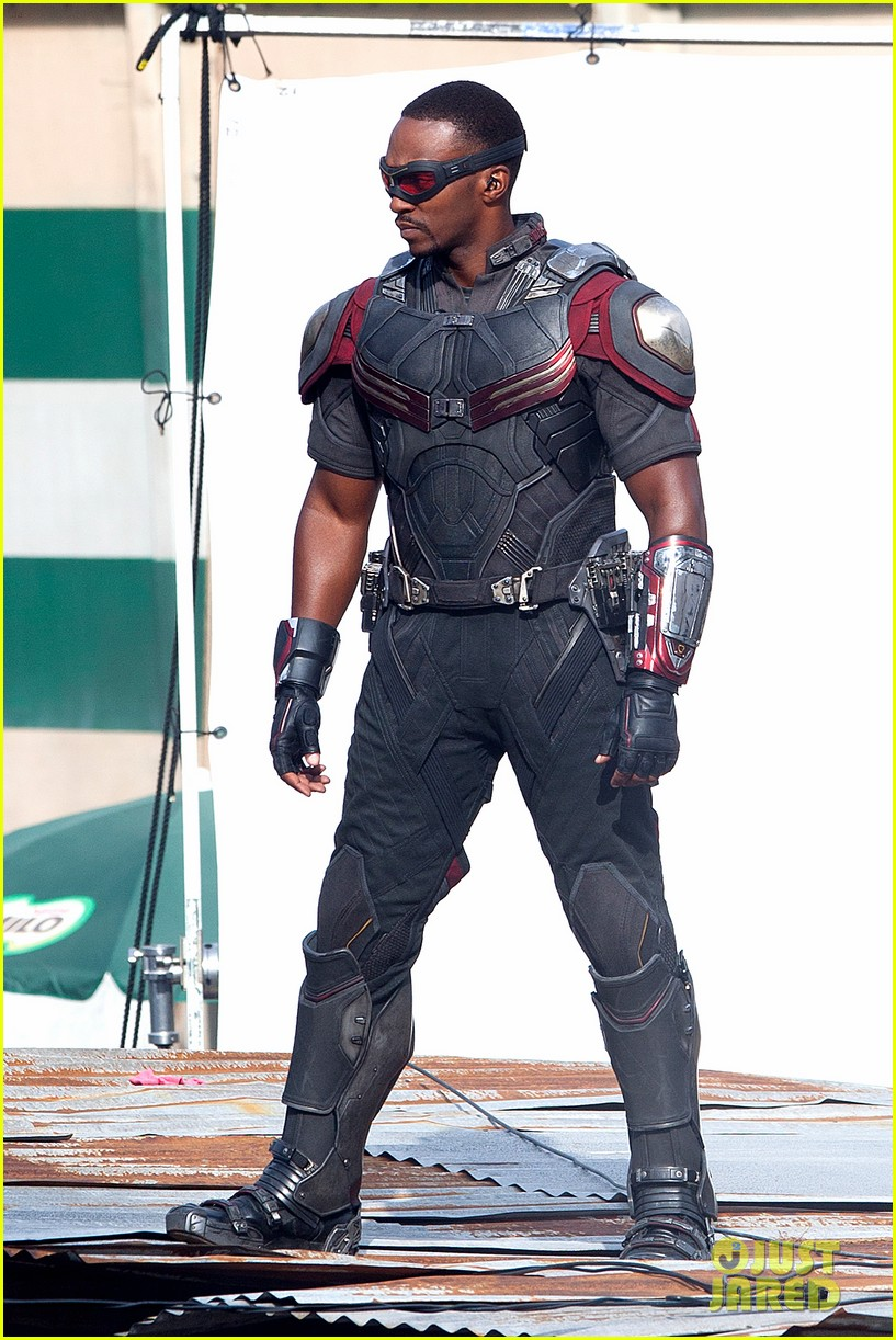 chris evans anthony mackie get to action captain america civil war 143370442