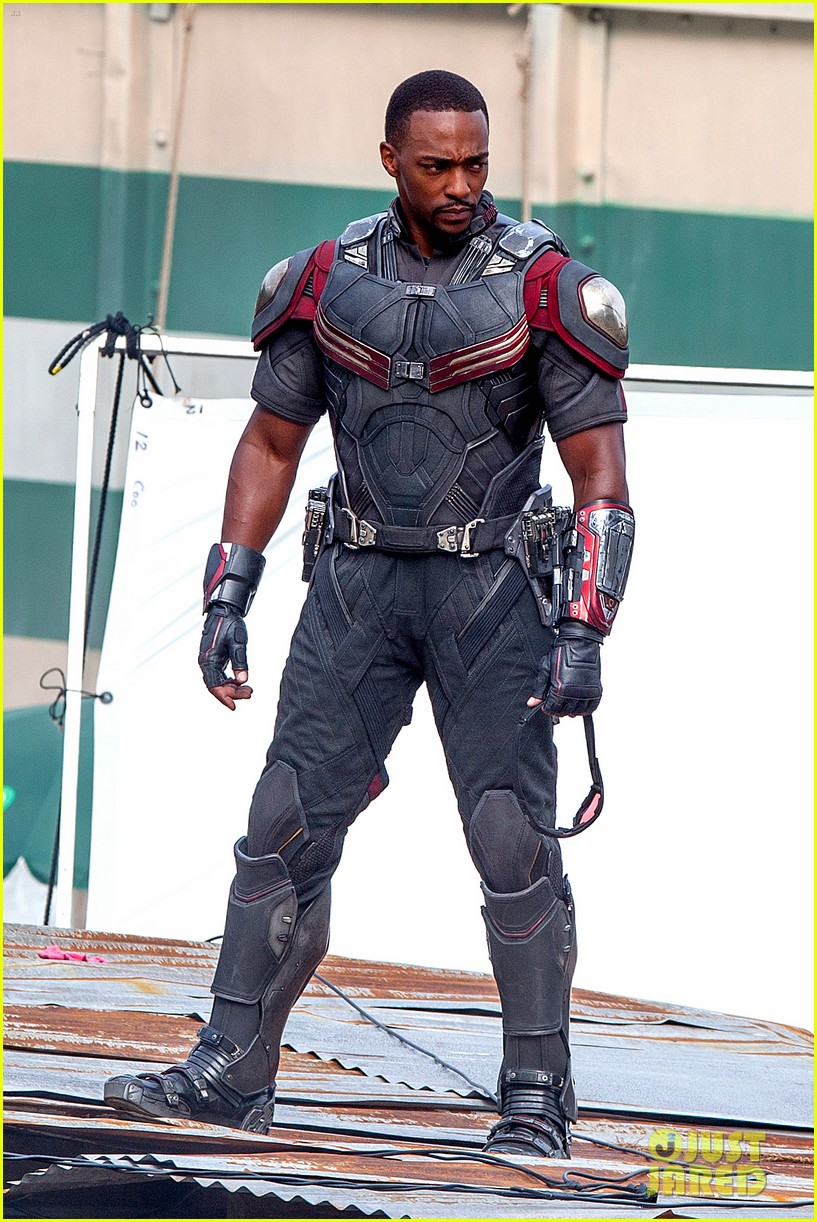 chris evans anthony mackie get to action captain america civil war 193370447