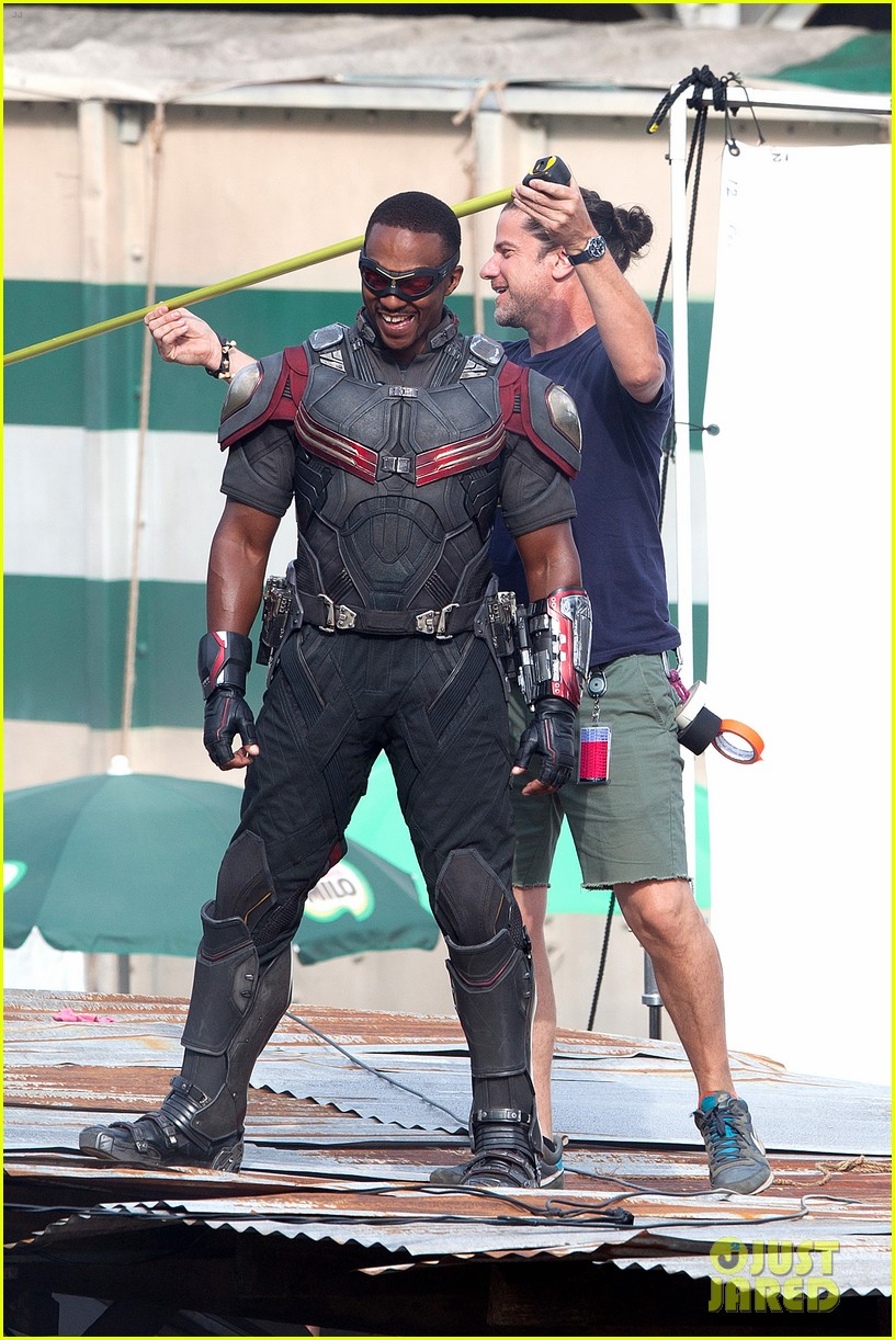 chris evans anthony mackie get to action captain america civil war 213370449